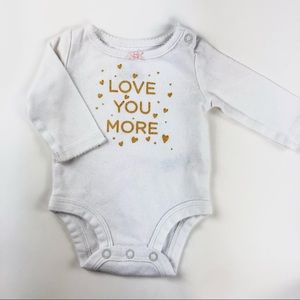 """White """"Love you more"""" onesie"""